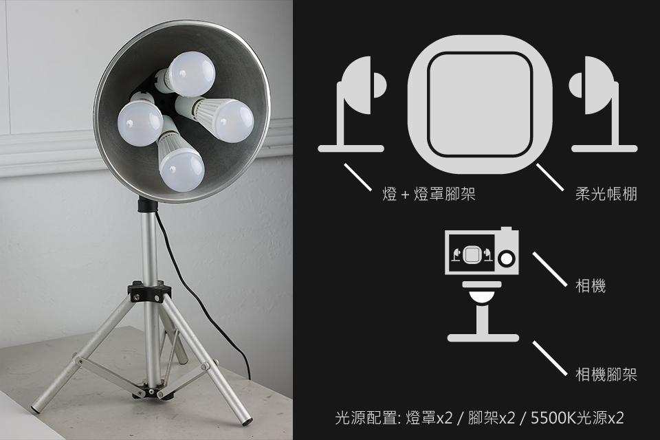 配置,简易棚,持续光源,产品,摄影